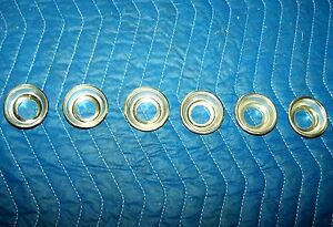 1951 Ford Set Of 6 Dash Knob Trim These Are Probably Nos