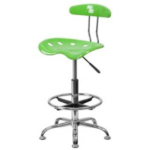 Delacora Ff lf 215 17 25 Inch Wide Metal Swivel Seat Drafting Stool With Tractor
