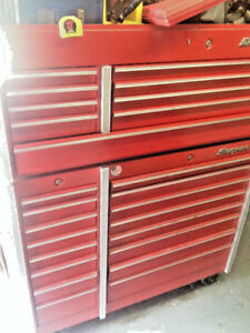 Snap On Snapon Tools Chest And Lower Cabinet Set Kr690 Kr560 Nice Used Wear