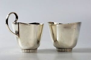 Towle Sterling Silver 925 Cream And Sugar Set Modern Pattern 550 7 6oz Total