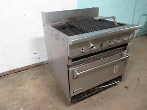 snorkler wolf Hd Commercial Natural Gas Radiant Charbroiler W convection Oven