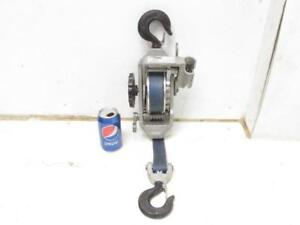 Little Mule 344b 2000 4000 Lb 1 2 Ton Strap Chance Belt Hoist Come Along