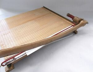 18 ingento 5 1 2 Guillotine Paper Cutter estate Sale Find made In U s a