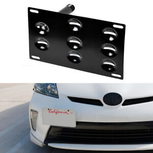 Jdm Front Bumper Tow Hook License Plate Bracket For 2010 15 3rd Gen Toyota Prius