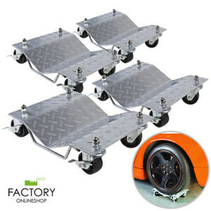 4pc Heavy Duty 1500lb each Tire Car Wheel Dolly Dollies Skate Auto Repair Slide