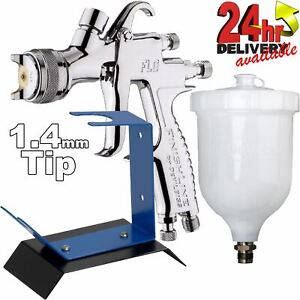 Devilbiss Flg G5 1 4mm Paint Spray Gun With Bench Mount Stand