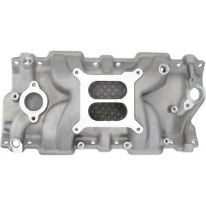 Speedway Small Block Chevy Sbc 350 Hi Rise Intake Manifold Polished Aluminum