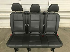 16 17 18 19 Mercedes Benz Metris Van Oem Black Leather 3 pass Bench Seat