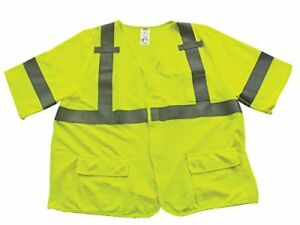 Ironwear 1267fr l 06 3xl Ansi Class 3 Modacrylic Safety Vest With Velcro Clos