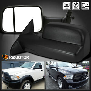 2009 2012 Dodge Ram 1500 Power heated Flip Up Towing Tow Side Mirrors Left right