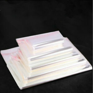 Clear Self Adhesive Seal Plastic Packaging Storage Bags Resealable Bags Gift
