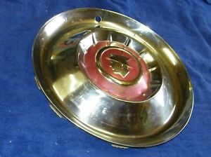 1955 Mercury Used Accessory Large Hubcap Wheel Cover 1