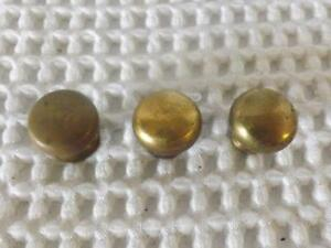 Vintage Brass Knobs Drawer Pulls Set Of 3