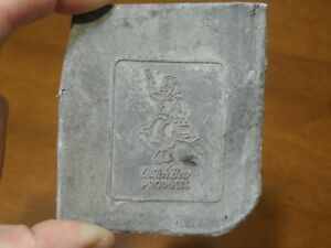 Vintage Letter Press Printing Block Dutch Boy Products Paint Unused unmounted