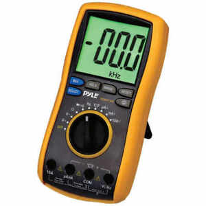 Pyle Pdmt38 Digital Lcd Ac dc Volt Current Resistance Range Multimeter Leads