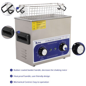 3 L Stainless Steel Liter Industry Heated Ultrasonic Cleaner Heater W timer Usa