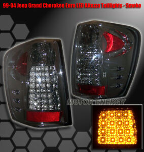 For 99 04 Jeep Grand Cherokee Rear Led Tail Lights Light Smoke 2002 2003