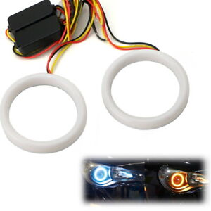 Amber white Switchback Led Angel Eyes Halo Rings For 13 up Scion Fr s Subaru Brz