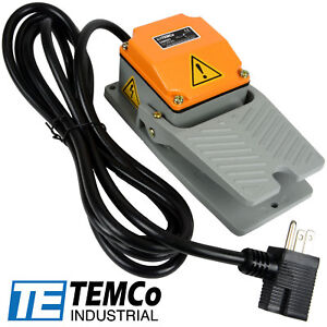Temco Foot Switch Cast Aluminum 15a Spdt No Electric Pedal Momentary 10ft Plug