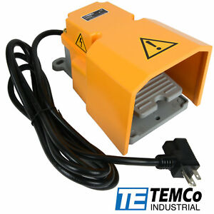 Temco Foot Switch Treadle Guard 15a Spdt No Electric Pedal Momentary 10ft Plug