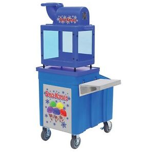 Sno King Snow Cone Maker Machine Plus Rolling Cart Caddy Stand
