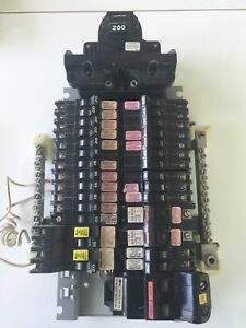 Complete Lot Of Federal Pacific Stab loc Breakers 15a To 100a 200 Main