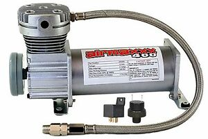 Pewter 400 Air Compressor For Air Bag Suspension System 90 On 120 Off Relay
