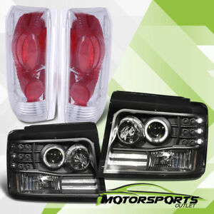 1992 1996 Ford Bronco f150 f250 f350 Led Halo Projector Headlights tail Lights