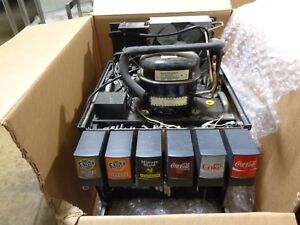 Coca Cola 6 Head Pump Fountain Dispenser Soda Machine And Metal Syrup Rack
