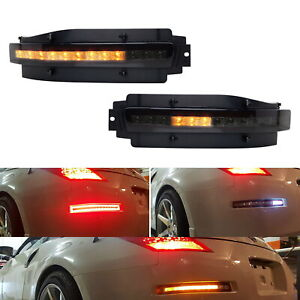 Smoked Lens Sequential Led Turn Signal Backup Brake Lamp For 03 09 Nissan 350z