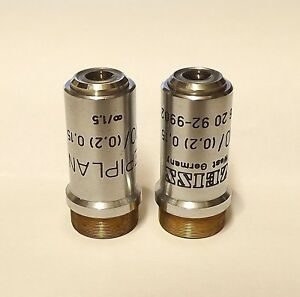 Zeiss 46 20 92 9902 Epiplan 10x 0 2 0 15 Objective For Comparison Microscope