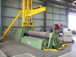 Faccin Cnc 4 Roll Plate Bender 10 Foot X 2 Inch Capacity 2000 Used