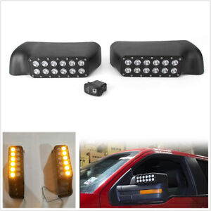 Pair Car Rear View Mirror W Turn Signal Lights For Led Ford F 150 Raptor 2009 14