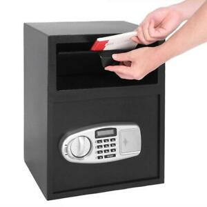 Large Digit Depository Drop Deposit Keypad Lock Gun Money Home Security Safe Box