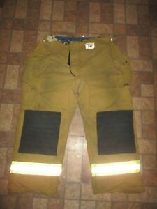 Pre owned Men s Morning Pride Turn Out Bunker Pants Firfighter Sz 50 X 32