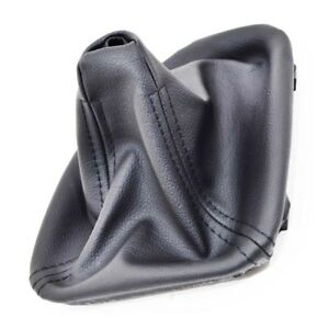 Gear Stick Shift Gaiter Boot Black Leather For Bmw 5 E39 1995 2003 P10