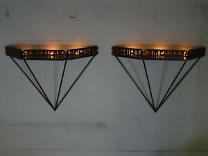 Modern Custom Made American Ladder Iron Wall Sconces Repurposed Candle Sconces