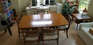 Mid Century Modern Mcm Dining Set Table Chairs Protective Padding