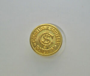 New Old Stock Colorado Southern Railroad Coat Button Waterbury Co S