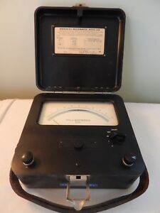 Vintage Weston D C Milliammeter Model 622 1961 Milliamperes Dc
