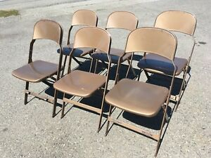 Vintage Metal School Chair Classroom Industrial Modern Retro Folding Deco Stage