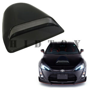 Universal Jdm Decorative Hood Scoop Smoke Black ht2 Air Flow Intake Vent Cover
