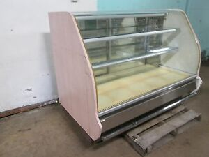 columbus H d Commercial Lighted Curved Glass Refrigerated Bakery Display Case