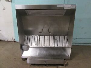 Heavy Duty Commercial 54 w Ss Restaurant Kitchen Exhaust Hood W return Air Vents