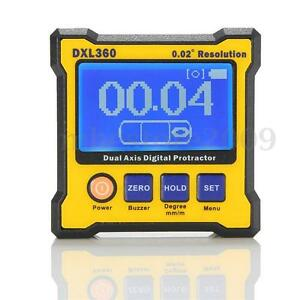 Dxl360 Digital Protractor Inclinometer Level Box Dual Meter Axis Angle