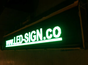 Led Sign P10 Green Single Color Advertising Electronic Wholesale Stock Video