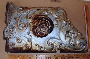 Antique Chrome Plated Side Or Front Plate Of Wood Burning Stove Sterling Name