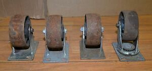 4 Heavy Duty 6 Casters Faultless More Cart Safe Industrial Steampunk Tool Lot