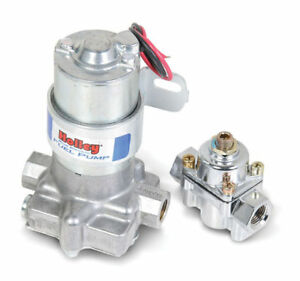 12 802 1 Holley 110 Gph Blue Electric Fuel Pump With Regulator