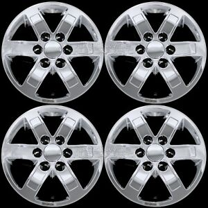 4 Chrome 2007 14 Gmc Sierra Yukon 17 Alloy Wheel Skins Hub Caps Full Rim Covers